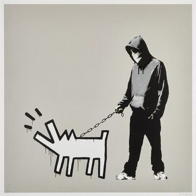 Banksy, 'Choose Your Weapon (Queue Jumping Grey)', 2010