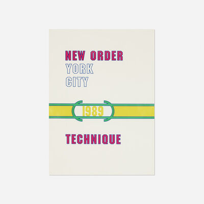 Lawrence Weiner, 'New Order poster', 1989