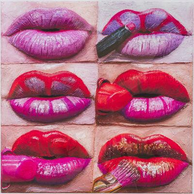 Gina Beavers, 'Florescent Lip', 2021