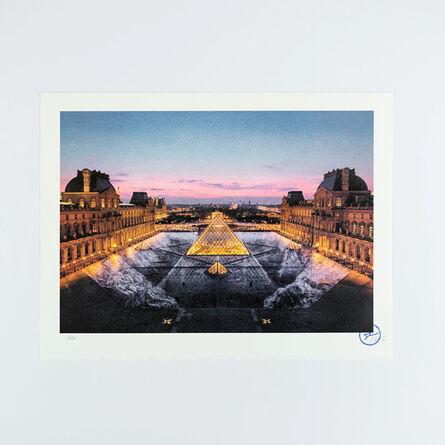 JR, 'JR au Louvre, 29 Mars 2019, 19H45 © Pyramide, Architecte I. M. Pei, Musee Du Louvre, Paris, France, 2019', 2021