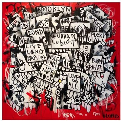 FLORE (b. 1983), 'The Urban Cubist', 2019
