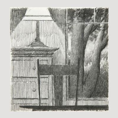 Robert Kipniss, 'Window with Lamp 1991 Drawing ', 1991