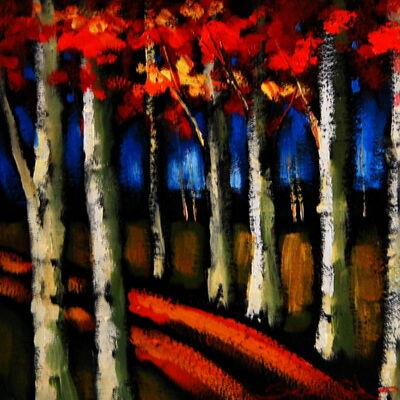 Sergey Cherep, 'Birch Trees I'