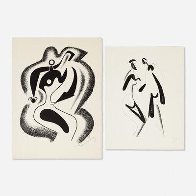 Alexander Archipenko, 'Sculptor; Encounter (two works)'