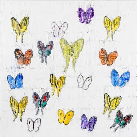 Hunt Slonem, 'Mumbai White Butterflies', 2021