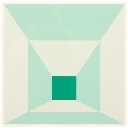 Josef Albers, 'Mitered Squares (Miami Green)', 1976