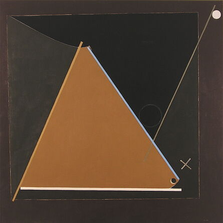Eduard Steinberg, 'Composition with thin blue line', 1991