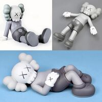KAWS, 'KAWS Holiday Companion: set of 3 works (KAWS grey Companion)', 2019