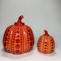 Yayoi Kusama, 'Rare Coloration / Yayoi Kusama, Rare Large 8'' Tall Signed Orange & Red Resin Pumpkin', ca. 2015 -present