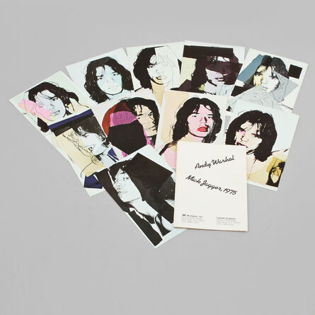 Andy Warhol, ' Mick Jagger mini folios. First and never released edition with no printed signatures Mick Jagger mini folios. ', 1975