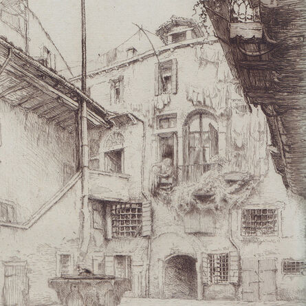 "Edgar Chahine, '""Venise - Corte Bottera (T.354)""', 1922"