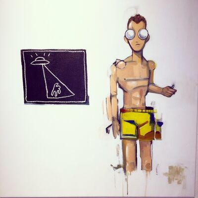 Hebru Brantley, 'Space Ships and Stick Figures', 2014
