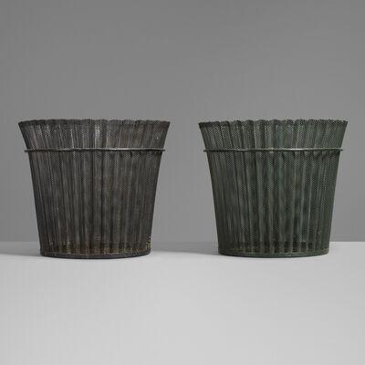 Mathieu Matégot, 'Wastepaper baskets, pair', 1954