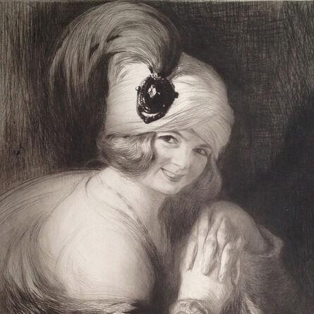 """Edgar Chahine, '""""Ghemma au turban à aigrette (T. 296 & 297)""""', 1910"""