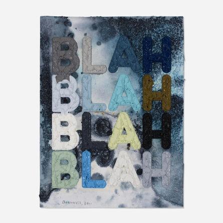 Mel Bochner, 'Blah Blah Blah', 2011