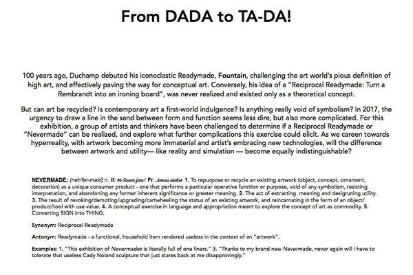 From DADA to TA-DA!