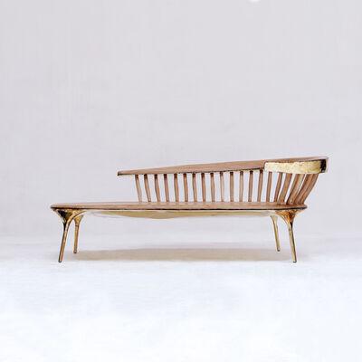 Valentin Loellmann, 'Brass Lounge Chair ', 2019
