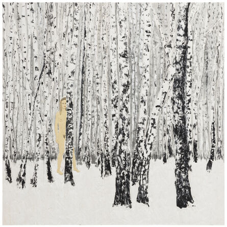 Stephan Balkenhol, 'Birch-Wood', 2018