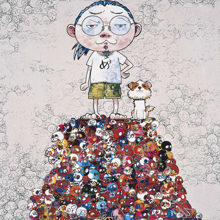 Takashi Murakami, 'Pom & Me: On the Red Mound of the Dead', 2013