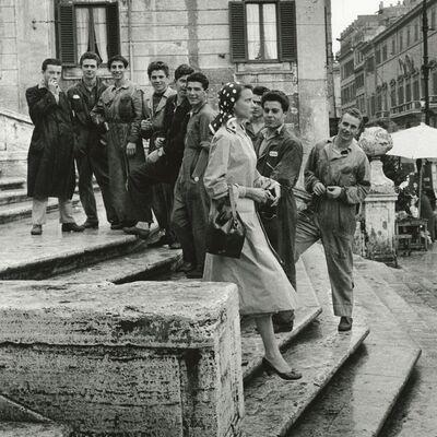 Art Shay, 'Dorothy on the Spanish Steps', 1955