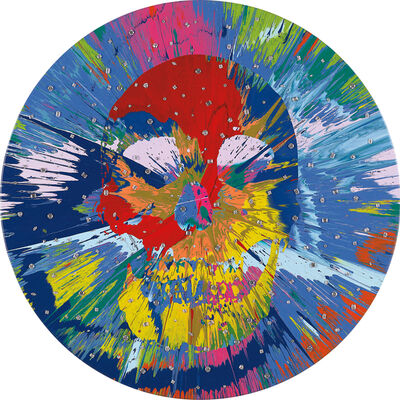 Damien Hirst, 'Beautiful Catequil Negativism Painting for Nick (with Diamonds)', 2011