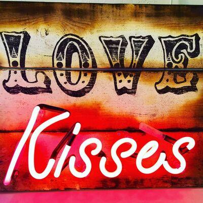 Illuminati Neon, 'Love Kisses', 2017
