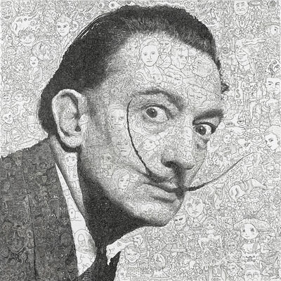 Keita Sagaki, 'Hystorical Portraits vol. 9 - Salvador Dalí', 2020