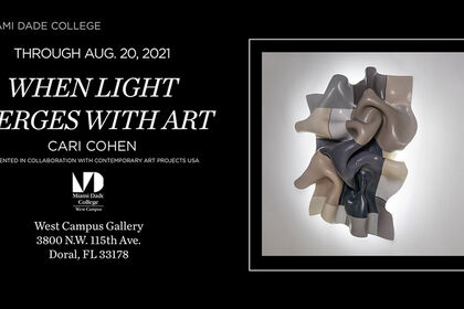 When Light merges with Art. Solo Show by Cari Cohen