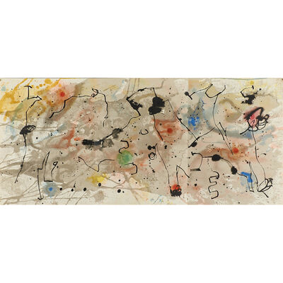 Joan Miró, 'Seven works: six lithographs in colors from Derrière le Miroir, together with exhibition poster Murales Peintures', ca. 1950's