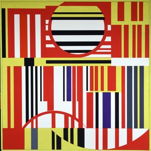 Günter Fruhtrunk, 'Gelb Rot Violett', 1961