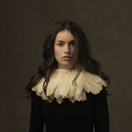 Marie Cecile Thijs, 'Girl with the Feather Collar I', 2014