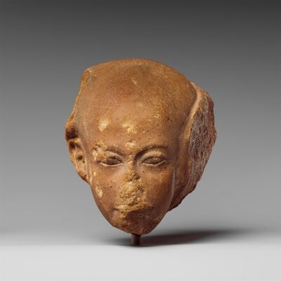 Unknown Egyptian, 'Head of a princess from a group statue', ca. 1352–1336 B.C.