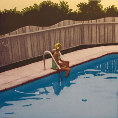 Isca Greenfield-Sanders, 'Set of Four: The Swimming Pool Etchings (Green Suit Bather)', 2006
