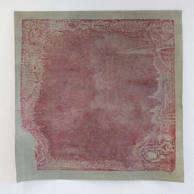 El Anatsui, 'Untitled (carmine and grey), ed. 5', 2016