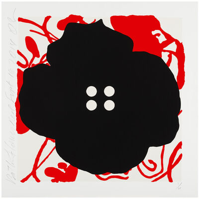 Donald Sultan, 'Button Flower Red, Sept 16, 2014', 2014