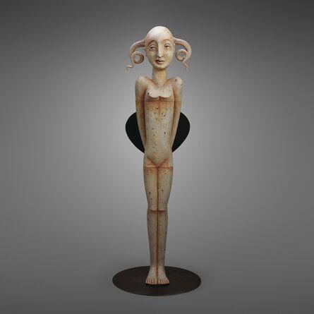 Patti Warashina, 'Queen with Fan', 2001