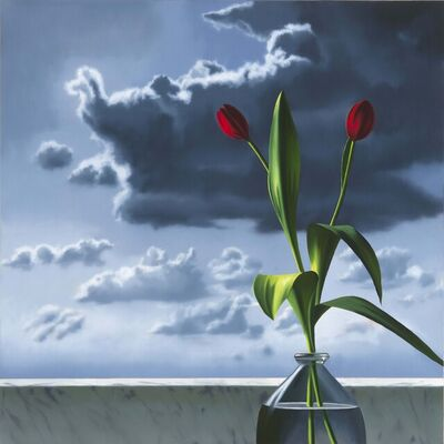 Bruce Cohen, 'Red Tulips Against Cloudy Sky', 2015