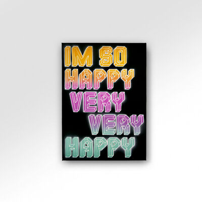 Ben Eine, 'I'm So Happy Very Very Happy', 2021