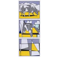 Roy Lichtenstein, 'Cow Going Abstract - Triptyque', 1982