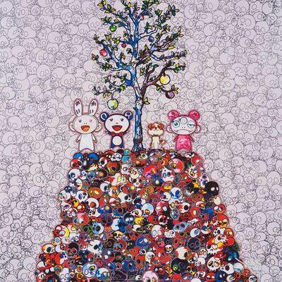 Takashi Murakami, 'Kaikai, Kiki, DOB, and POM atop the Mound of the Dead', 2013