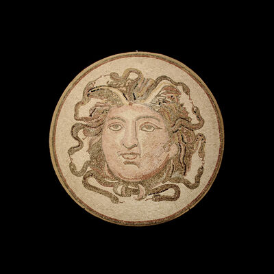 Unknown Roman, 'Roman Mosaic Depicting the Head of Medusa', 100 AD to 300 AD