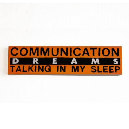 B. Thom Stevenson, 'Communication Dreams Talking in My Sleep', 2020