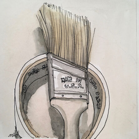 Mary Lawler, 'Brush and Tape', 2017