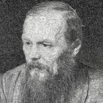 Keita Sagaki, 'Hystorical Portraits vol. 8 - Fyodor Dostoevsky', 2020