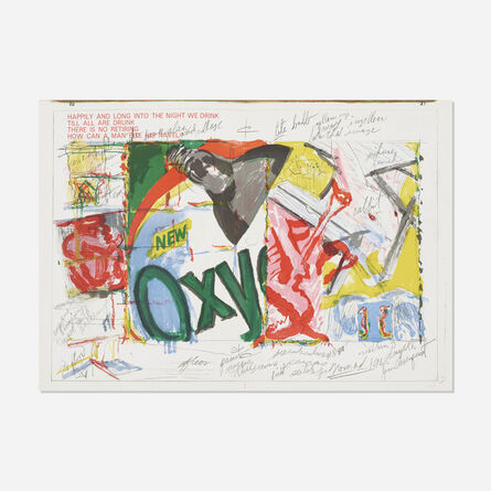 James Rosenquist, 'Long Into the Night We Drink (from the One Cent Life portfolio)', 1964