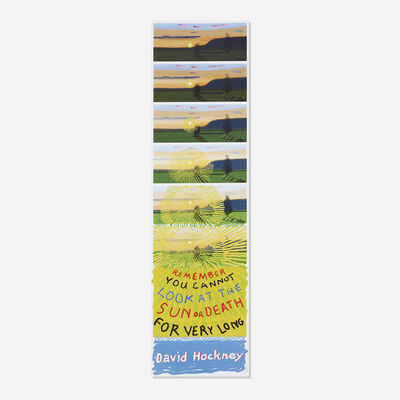 David Hockney, 'Remember You Cannot Look at the Sun or Death for Very Long', 2021
