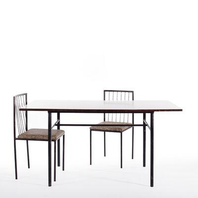 Geraldo de Barros, 'Table and set of chairs ', 1950