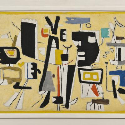 Willi Baumeister, 'Figuren auf Gelb', 1951