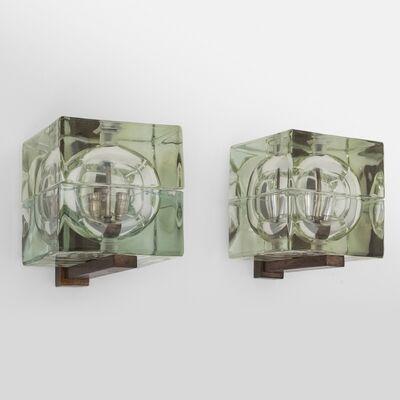Alessandro Mendini, 'A pair of 'Cubosfera' wall lamps', 1968