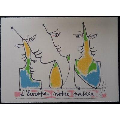 Jean Cocteau, 'Les fondateurs de l'Europe', 1961